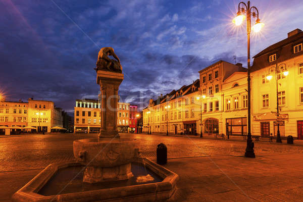 старый город квадратный синий путешествия Skyline Европа Сток-фото © benkrut
