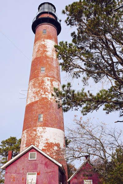 Farol Virgínia ilha EUA luz viajar Foto stock © benkrut