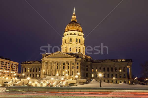 Topeka, Kansas - entrance to State Capitol Building Stock photo © benkrut