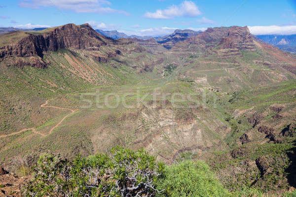 Gran Canaria - panorama of interior Stock photo © benkrut