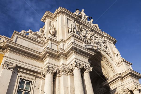 Rua Augusta Arch in Lisbon Stock photo © benkrut