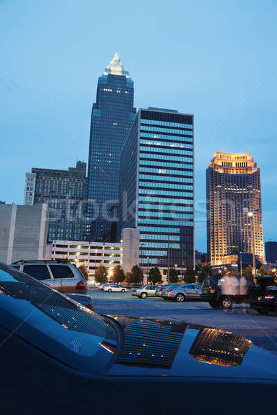Cleveland buildings reflected Stock photo © benkrut