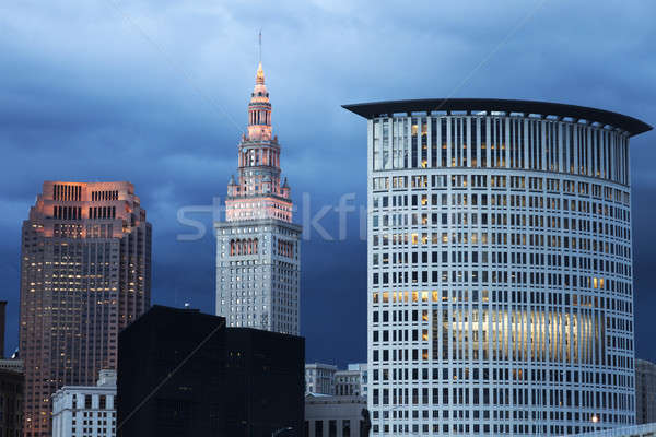 Cleveland evening time Stock photo © benkrut
