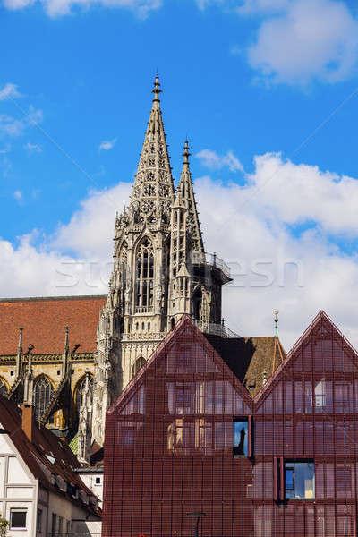 Monumental cidade azul urbano linha do horizonte arquitetura Foto stock © benkrut