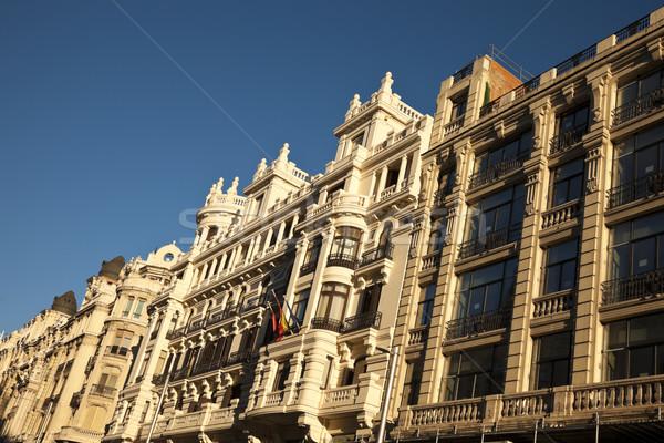 Buildings along Gran Via Stock photo © benkrut