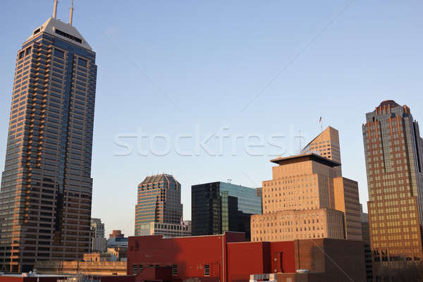 Skyscrapers in Indianapolis Stock photo © benkrut