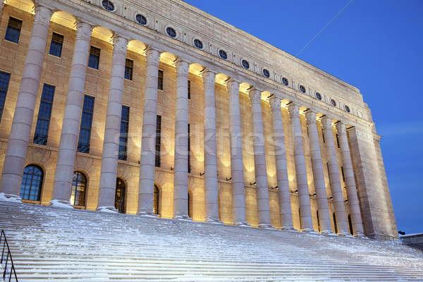 Parlement Finlande Helsinki hiver Photo stock © benkrut
