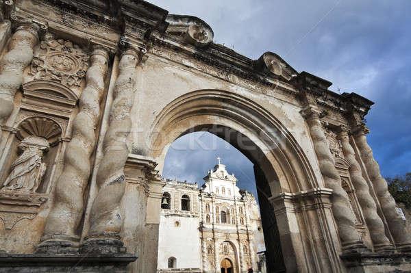 Photo stock: Cathédrale · église · nuage · porte · arc
