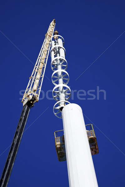 Células torre grúa instalación superior arquitectura Foto stock © benkrut