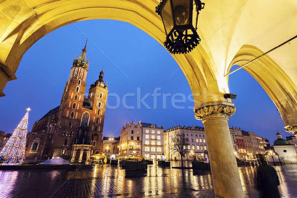 Cracovia principale piazza notte panno sala Foto d'archivio © benkrut