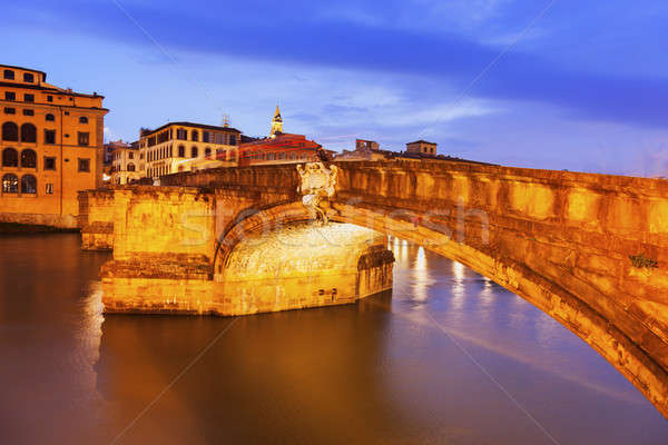Bridge on Arno River Stock photo © benkrut