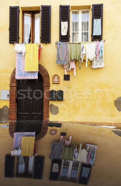 Hanging loundry - seen in Tuscany Stock photo © benkrut