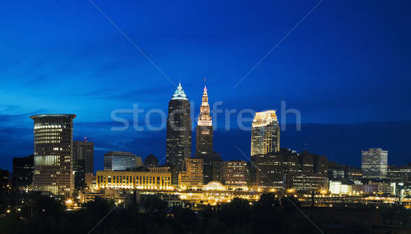 Night in Cleveland Stock photo © benkrut