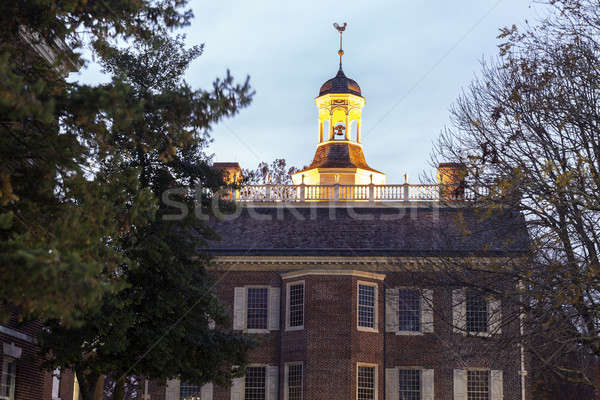 The Old State House in downtown of Dover Stock photo © benkrut