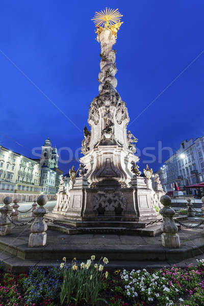 Column on Hauptplatz in Linz Stock photo © benkrut