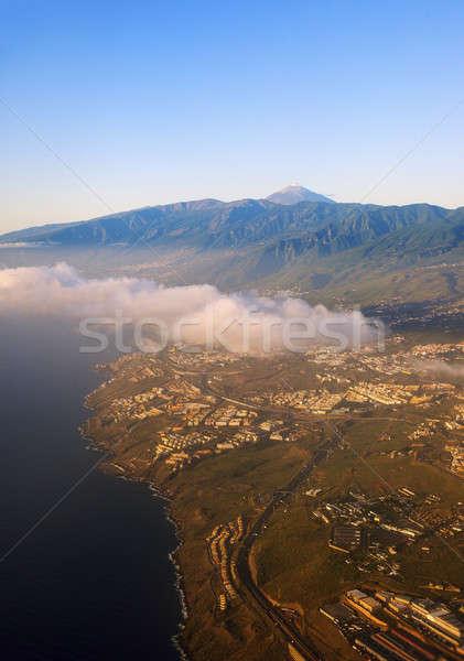 Luchtfoto tenerife vulkaan Spanje stad Stockfoto © benkrut
