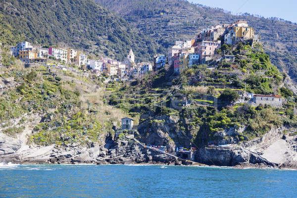 Corniglia architecture from the sea Stock photo © benkrut