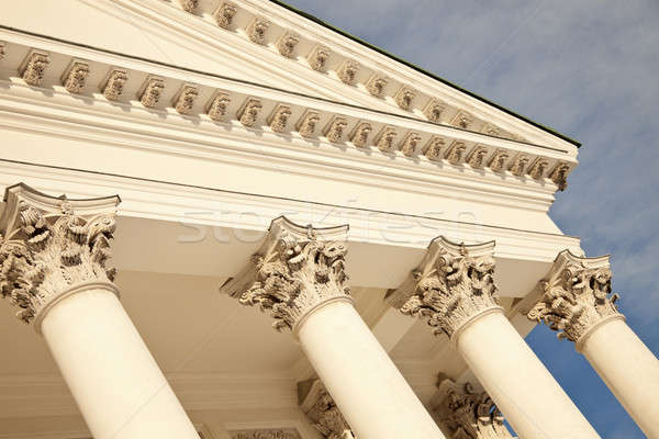 Columns of Lutheran Cathedral in Helsinki Stock photo © benkrut