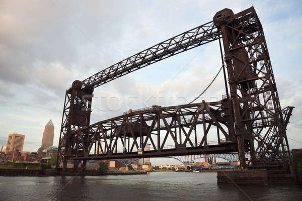 Bridge on Cuyahoga River Stock photo © benkrut