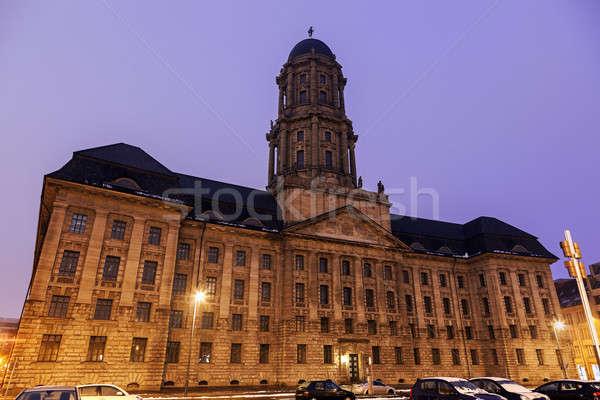 Oude Berlijn stadhuis zonsopgang Duitsland sneeuw Stockfoto © benkrut