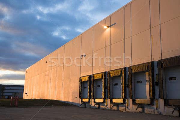 空っぽ ドック 日没 産業 地区 ストックフォト © benkrut