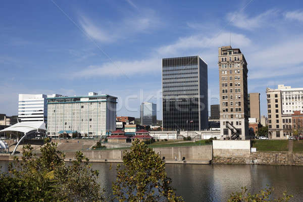 West Virginia panoramę spadek popołudnie miasta podróży Zdjęcia stock © benkrut
