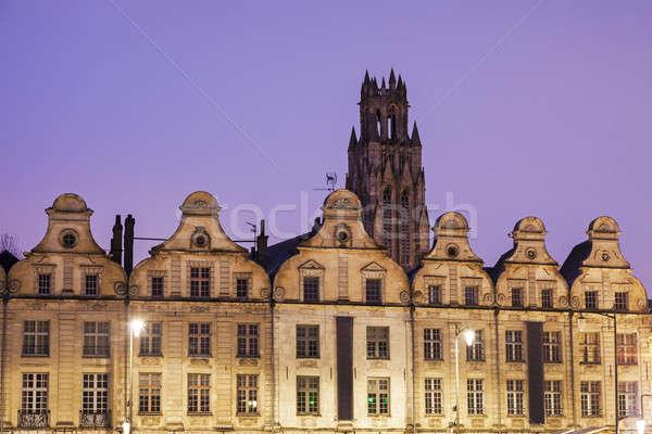 Saint Jean-Baptiste Church in Arras seen from Place des Heros Stock photo © benkrut