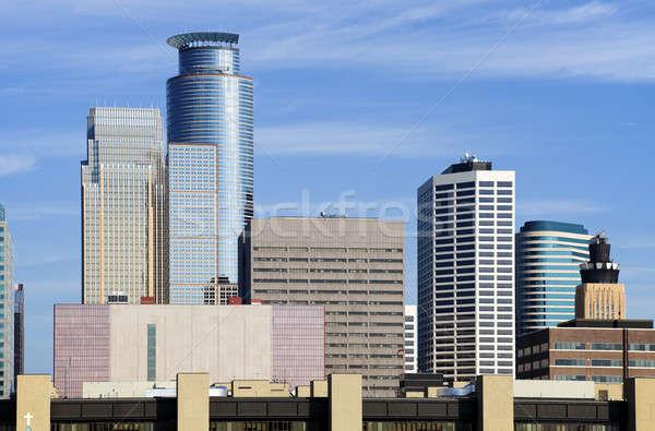 Minnesota reggel idő épület felhőkarcoló modern Stock fotó © benkrut