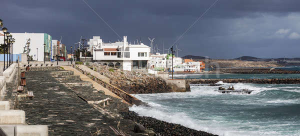 Pozo Izquierdo - shore of Atlantic Ocean Stock photo © benkrut