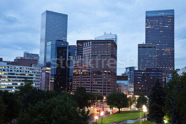 Rainy evening in Denver Stock photo © benkrut