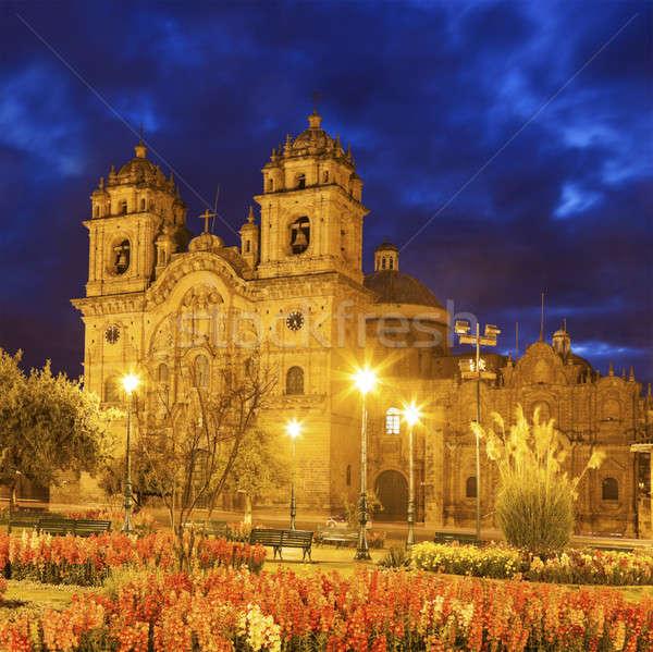 Kilise toplum İsa seyahat Stok fotoğraf © benkrut