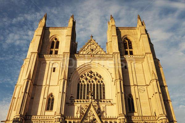 Cattedrale la città chiesa blu viaggio Foto d'archivio © benkrut