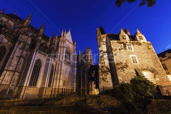 Foto stock: Catedral · ciudad · iglesia · azul · viaje