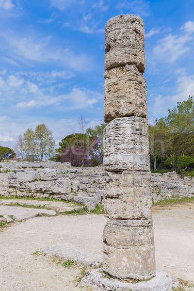遺跡 イタリア 教会 青 旅行 スカイライン ストックフォト © benkrut