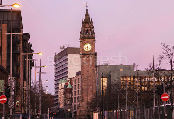Albert Memorial Clock in Belfast Stock photo © benkrut