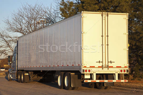 Semi truck seen early morning Stock photo © benkrut
