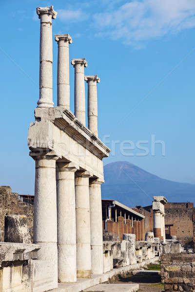 Ruinas ciudad viaje Europa antigua columna Foto stock © benkrut