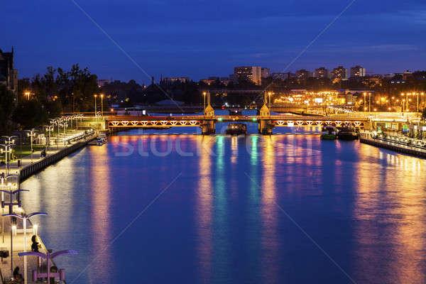 Bridge on Oder River in Szczecin Stock photo © benkrut