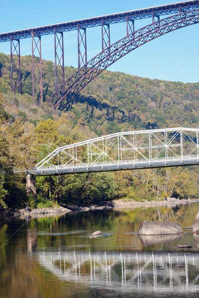 Hidak új folyó Nyugat-Virginia öreg Stock fotó © benkrut