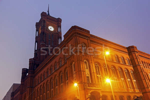 Rotes Rathaus. Berlin, Germany Stock photo © benkrut