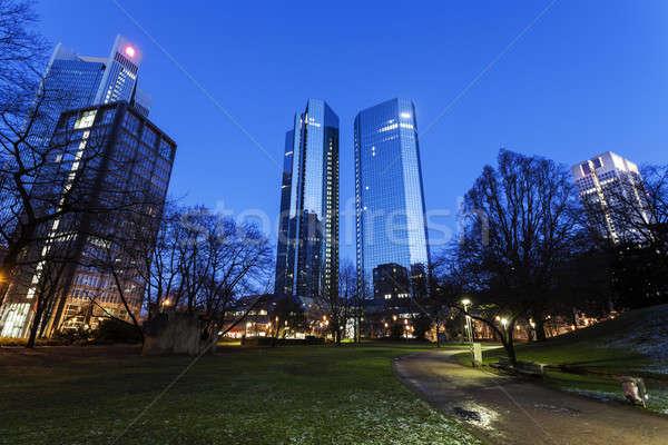 Современная архитектура центра Франкфурт небе синий путешествия Сток-фото © benkrut