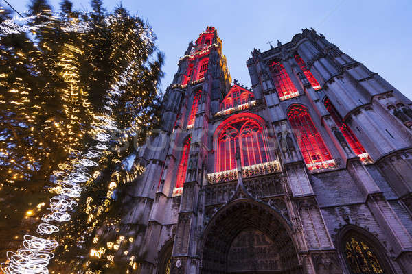 Cathedral of Our Lady in Antwerp Stock photo © benkrut