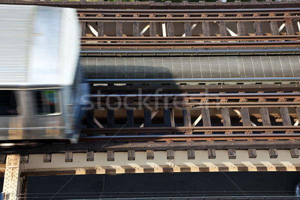 Elevated train trucks Stock photo © benkrut