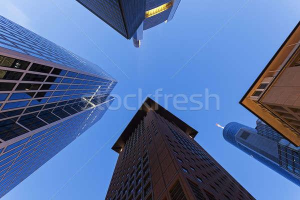 Modern építészet belváros égbolt épület kék utazás Stock fotó © benkrut