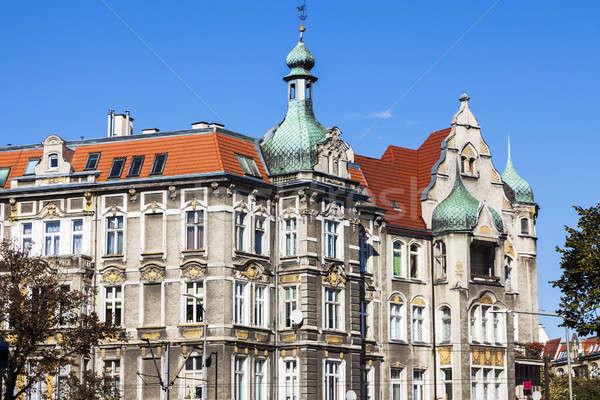 Velho ocidente casa linha do horizonte arquitetura europa Foto stock © benkrut