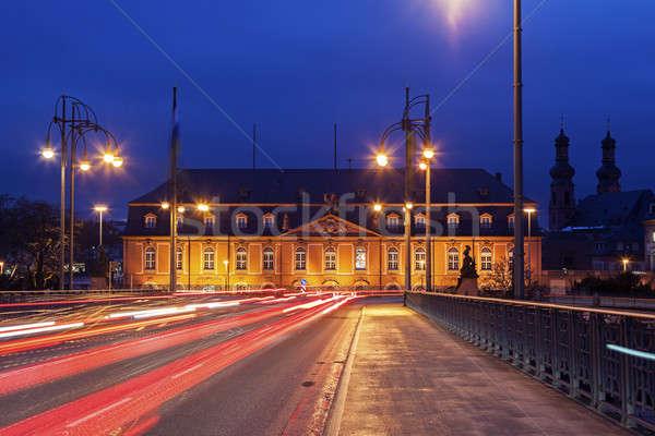 Staatskanzlei Rheinland-Pfalz and St. Peter Church  Stock photo © benkrut