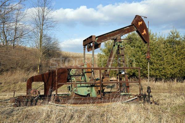 Olajkút pumpa üzlet technológia ipar ipari Stock fotó © benkrut