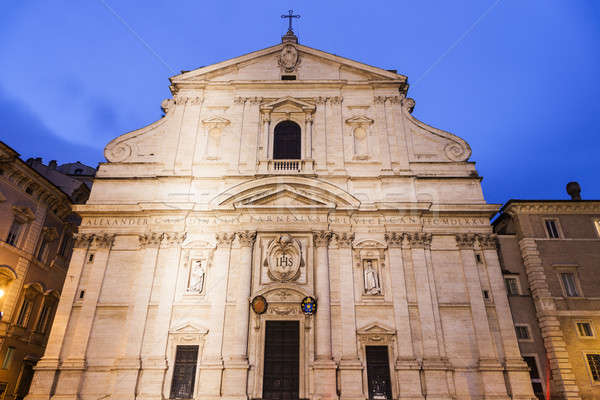 Church of the Holy Name of Jesus on Piazza del Gesu Stock photo © benkrut