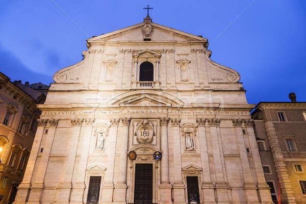 Kerk heilig naam jesus Rome stad Stockfoto © benkrut