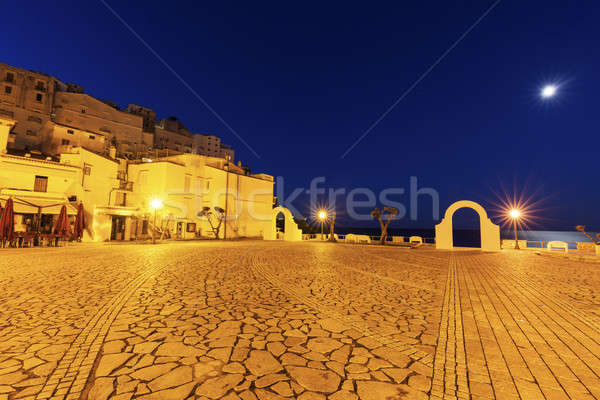 Sperlonga at sunrise. Stock photo © benkrut